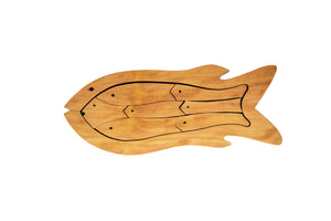 Wooden Puzzle - Fish (natural wood)