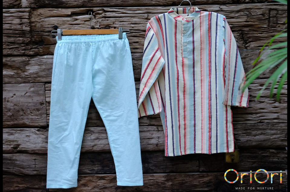 Load image into Gallery viewer, Stripe Patrol – FestiveBox<br/>Kurta Pyjama