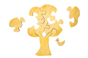 Wooden Puzzle - Tree (natural wood)