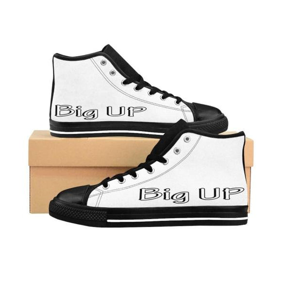 Printify Shoes Black / US 9 Chaussures Sneakers Hip-Hop Hommes | Version Big Up Blanche