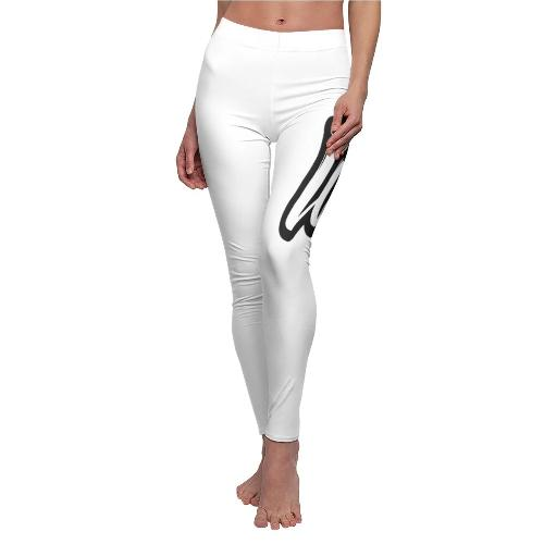 Printify Jambières (Leggings) Blanc - coutures blanches / M Leggings Reggae One Love