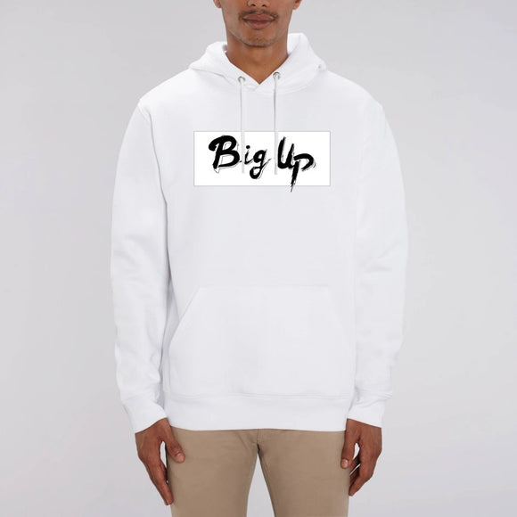 sweat-shirt-blanc-biologique-unisexe-hip-hop-big up-noir-et-blanc-officiel