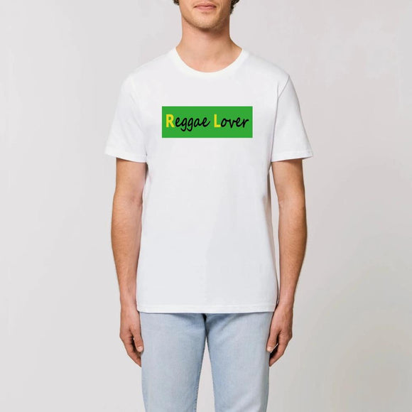 t-shirt-reggae-coton-bio-blanc-reggae-lover-rectangle-vert-majuscules-jaunes