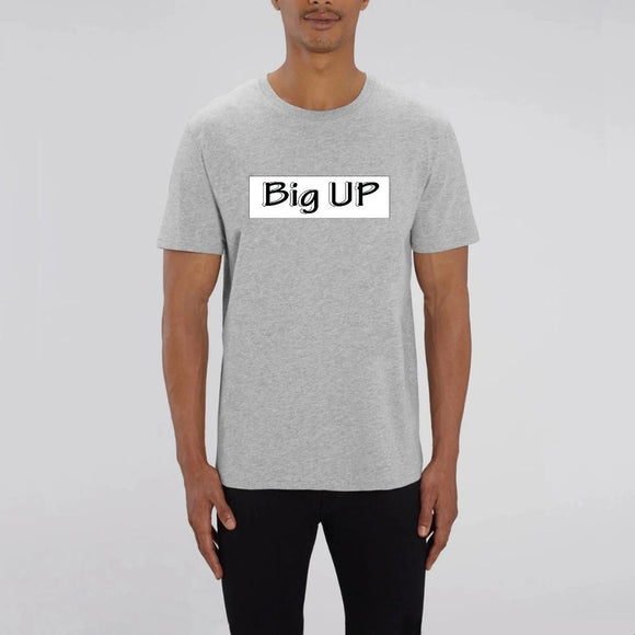 t-shirt-bio-reggae-hip-hop-gris-big-up-noir-rectangle-blanc