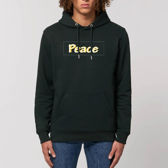 sweat-shirt-bio-responsable-reggae-hip-hop-noir-peace-jaune