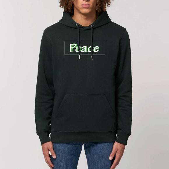 sweat-shirt-bio-responsable-reggae-hip-hop-noir-peace-vert