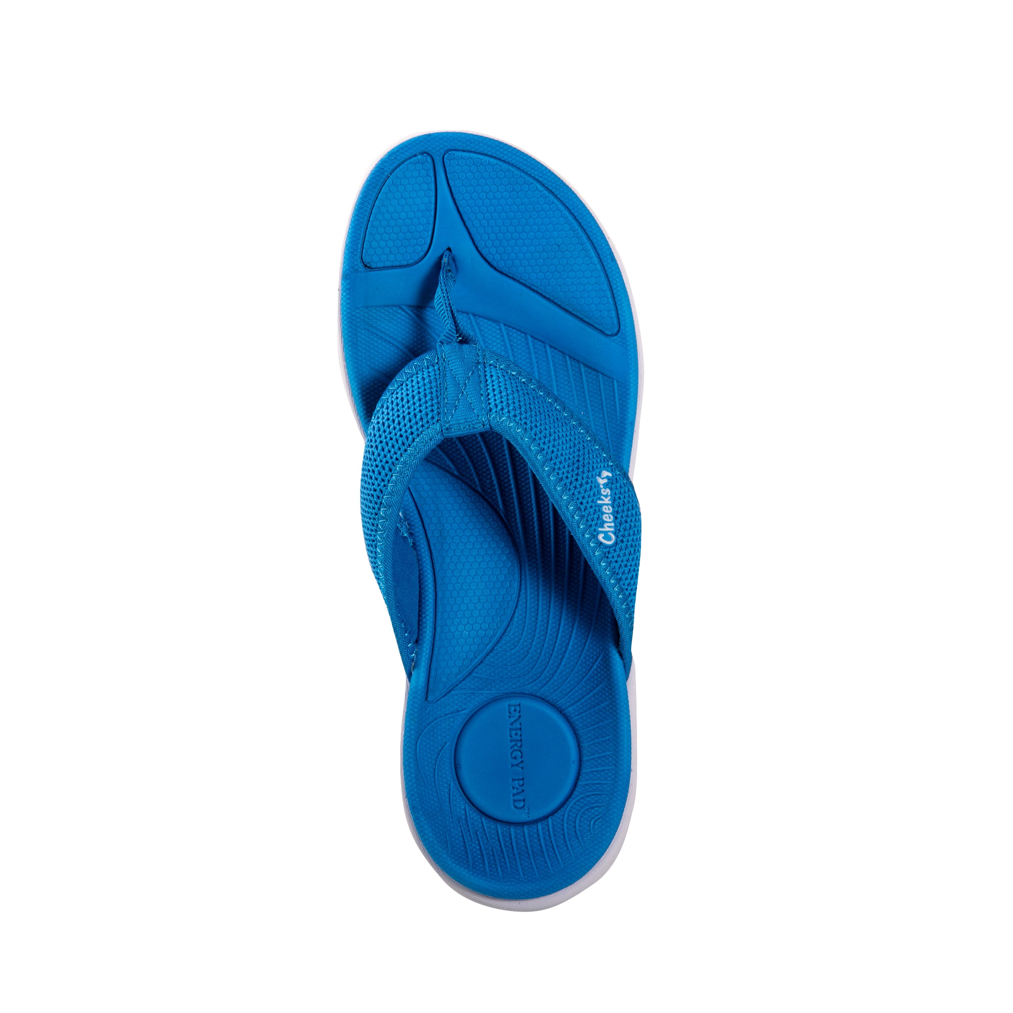 Cheeks women's Blue Mesh Cushys Sandals