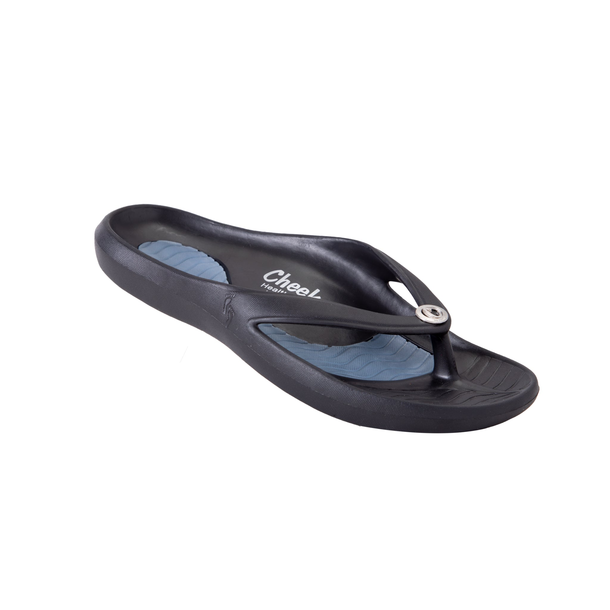 cheeks solid black womens health sandals