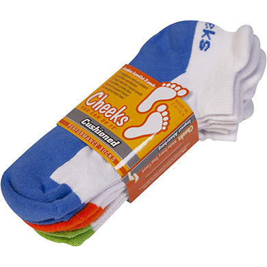 Cheeks® Cushioned, Low Cut Performance Socks