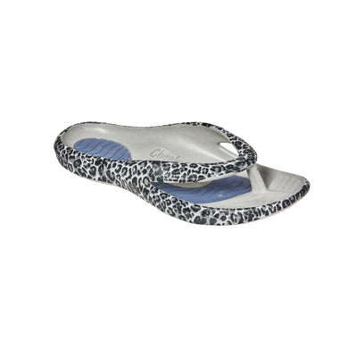 Cheeks women's Grey Leopard Health Sandals