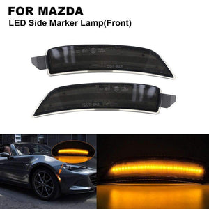 2PCS 5W 12V Smoked LED Car Side Marker Light Lamp For MAZDA Miata Mx-5 2016-2018 2X Front Side marker(Amber) Car Accessories Rinteln Store