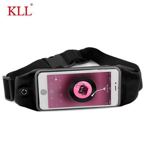 6 Inch Sports Running Waist Bag for iPhone Samsung Huawei Outdoor Jogging Belt Waterproof Phone Bag Case Gym Waist Holder Cover KLL Official Store