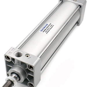 Baomain Pneumatic Air Cylinder SC 63 X 150 PT3/8, Bore: 2 1/2 inch, Stroke: 6 inch, Screwed Piston Rod Dual Action