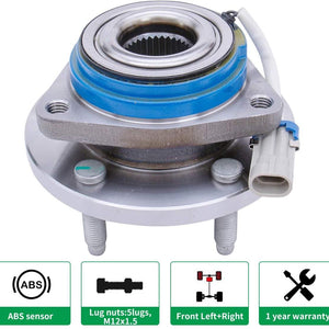 HICKS 513121 Front Wheel Bearing Hub and Bearing Assembly Allure, Aurora, Bonnevile, Century, Impala 5 Lug W/ABS