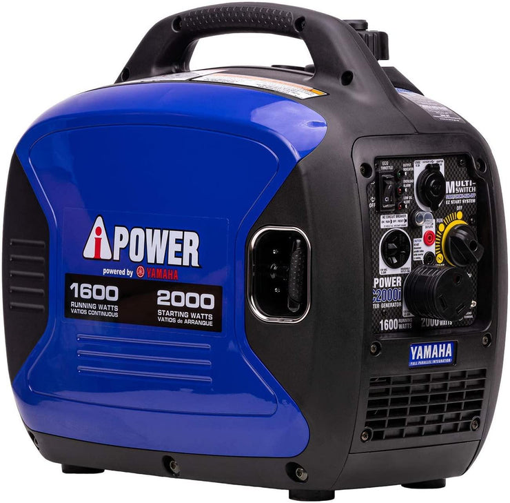 A-iPower SC2000iV 2000-Watt Yamaha Engine Portable Inverter Generator, Blue