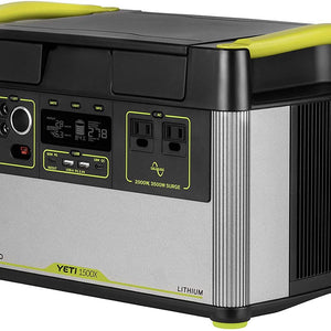 Yeti 1500X Portable Power Station, 1516Wh Portable Lithium Battery Emergency Power Station, 2000W Portable AC Inverter Generator, Outdoor Portable Generator, Portable Solar Generator for Solar Panels