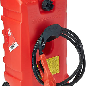 DuraMax Flo n' Go LE Fluid Transfer Pump and 14-Gallon Rolling Gas Can