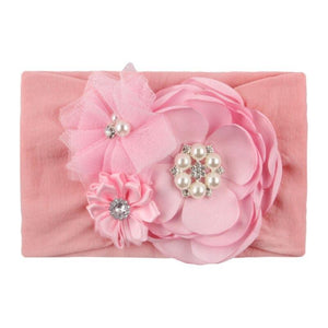 Children's Seamless Super Soft Nylon Headband Cute Princess Hair Accessories Baby Boy Girl Hair Band Flower Kids Headwear JeanDan Store-ufza Store