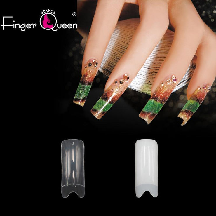 500pcs Fashion Long Ballerina Coffin Nails Tips Fake Nails Half Cover Shop5248057 Store