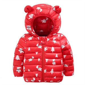 Sundae Angel Winter Jacket For Boy Hooded Thicken Long Sleeve Girl Jackets Girls Outerwear Coats Children Down Parkas Clo bigebank Store