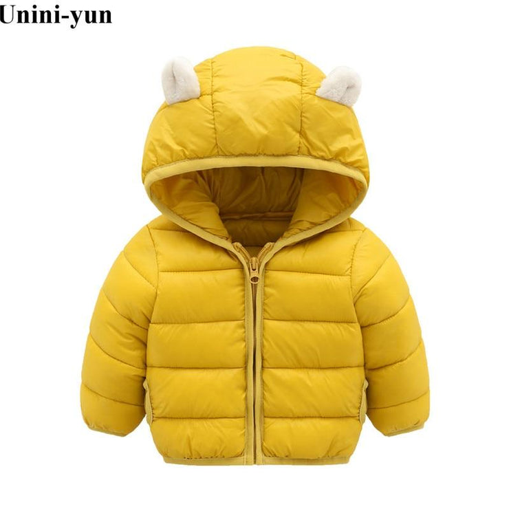 Winter Cotton Jacket for Girls Clothes Parka Hooded Russian Winter Coat 2019 New Children Outerwear Clothing Boys Coats Winter Unini-yun Official Store