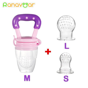3 In 1 Baby Nipple Fresh Food Fruit Milk Feeding Bottles Nibbler Learn Feeding Drinking Water Straw Handle Teething Pacifier Ranavoar Mother&Baby Specialty Store