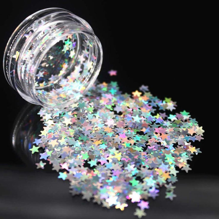 1Pcs Silvery Stars Sequins Acrylic Nail Art Kit Manicure Set Nail Glitter Powder Decoration Acrylic Pen Brush Nail Art Tool Kit Lolede Makeup Store