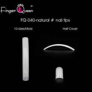 500pcs Long Ballerina Fake Nails Full/Half French Fingerqueen Official Store natural
