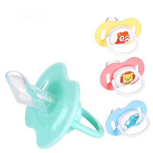 1PCs Orthodontics Pacifiers Baby Cotton Animals Printing Safe Food Grade Silicone Cute Baby Round and Flat Nipples Pacifiers LOLEDE Toy Store
