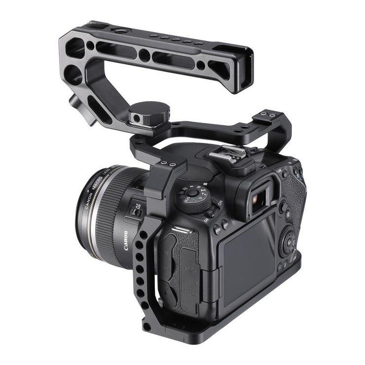 Aluminium Camera Cage for Canon EOS 90D/80D/70D with Cold Shoe Mount Arri Hole 1/4 3/8 Screw To Microphone Monitor LED Ulanzi Select Store
