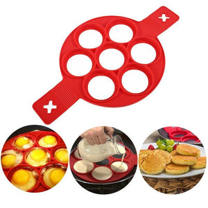 1Pcs Silicone Non Stick Fantastic Egg Pancake Maker Ring Kitchen Baking Omelet Moulds flip cooker Hot TV show Store