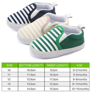 Casual baby shoes navy striped cotton sneakers children's shoes toddler shoes baby girl shoes baby Infant first walkers Shoes Child Wonderland Store