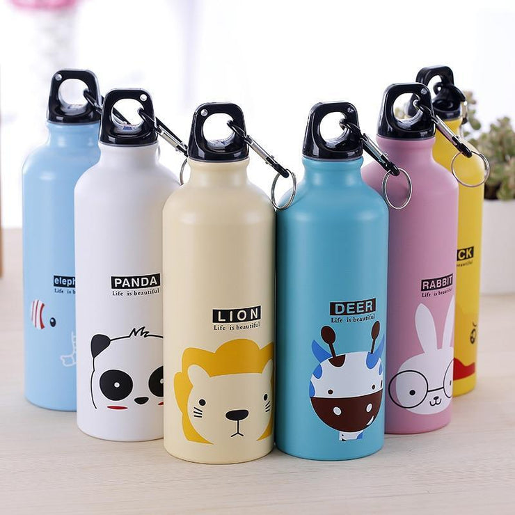 Kids Travel Water Bottle Cute Cartoons Animal Pattern Bottle Cup School Office Bottle Outdoor Sport Hiking Climping Drinking Cup