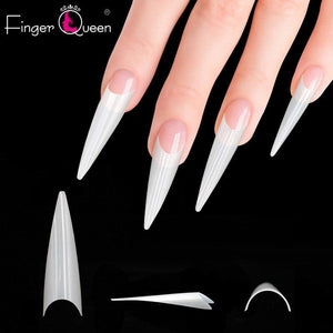 500Pcs Long Ballerina Fake Nails Tips Extra Long Stiletto Fingerqueen Profession Store