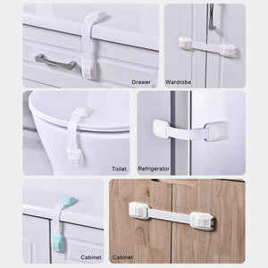 2020 Child Safety Lock Protection Children Locking Doors For Children's Kids Safety Plastic Cabinet Locks Anti-Clip Drawer Lock TOY- BAR Store