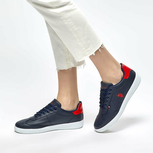 White Navy Blue Women's Sneaker Shoes Casual Platform Sneaker Shoes Woman U.S. POLO ASSN. SOMMER Flo Shoes Official Store