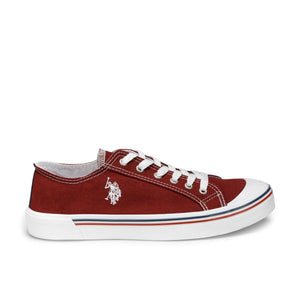 Burgundy Men 'S Sneaker U.S. POLO ASSN. Flo Shoes Official Store