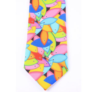 Biggdesign Fertility Fish Tie, Custom Woven Fabric, 7 Cm Width BiggBrands Store