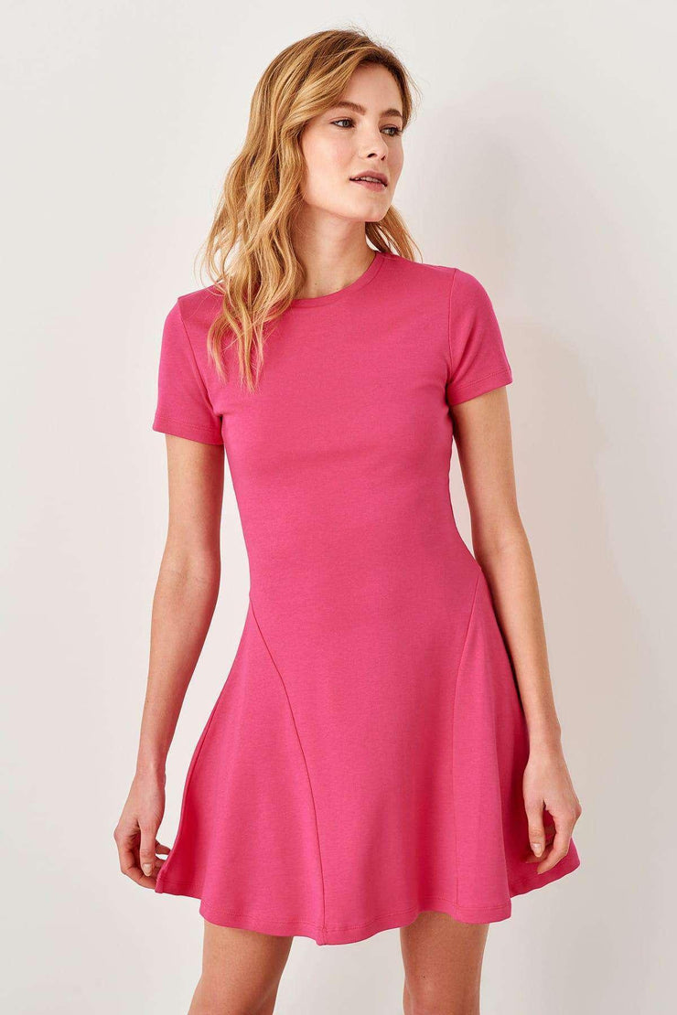 Fuchsia Flounces Knit Dress Trendyol Women's Store