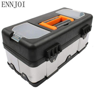High qaulity Large stainless steel toolbox household maintenance electrician Tool Box Z0103 portable Toolsboxes - Amotarget