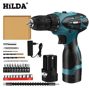 HILDA Electric Drill Cordless Screwdriver Lithium Battery Mini Drill Cordless Screwdriver Power Tools Cordless Drill HILDA Official Store CHINA 16.8V 4