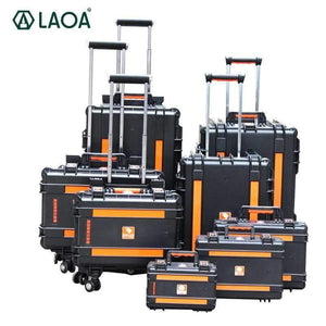 LAOA Strengthen Impacted Resistance and Water-Proof Portable Tool Box Instrument Trolley Fix Wheel Case LAOA Official Store