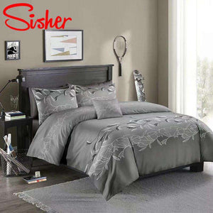 Luxury Bedding Sets Classic Solid Color Lace Printing Single Size Duvet Cover Set Double Queen King Quilt for home /No Bed Sheet sisher Official Store