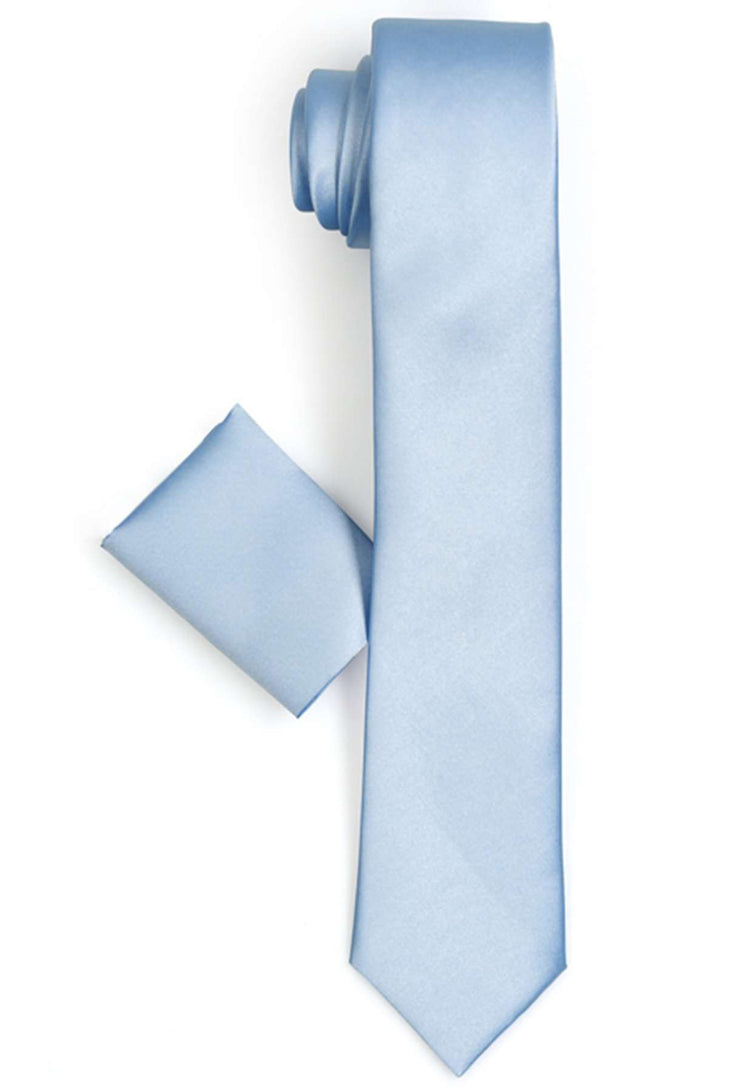 Narrow Cut Blue Tie classic men business formal dresses wedding tie Varetta Official Store