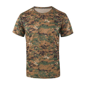 New Army Outdoor Hunting CamouflageT-shirt Men Breathable Army Tactical Combat T-Shirt Military Dry Sport Camo Hunting Camp Tees The Betterwear Store Jungle digital S