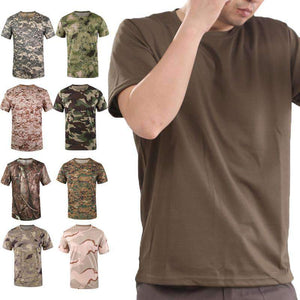 New Army Outdoor Hunting CamouflageT-shirt Men Breathable Army Tactical Combat T-Shirt Military Dry Sport Camo Hunting Camp Tees The Betterwear Store