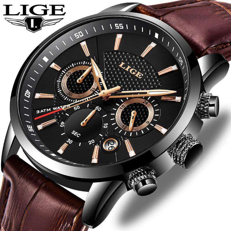 New Mens Watches Top Brand Luxury Military Sport Watch LIGE Store
