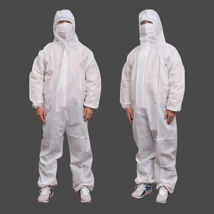 Prevent Bacterial virus Disposable Workwear protective suit Waterproof Oil-Resistant Coverall Spary Painting Clothes Overall Sui TIME TREE Friendship Store