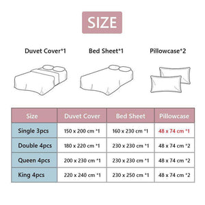 Sisher Nordic Bedding Sets Queen Size Plant Leaf Floral Plaid Stripe Duvet Cover Single Double King Set Quilt Cover Bed Sheet sisher Official Store