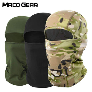 Tactical Military Outdoor Camo Cycling Balaclava Full Face Cover Bicycle Ski Bike Snowboard Sport Cover Hiking Hat Cap Men Women MACOGEAR Store
